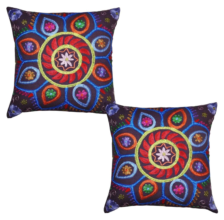 Pcs vintage indian handmade cotton pillow cover suzani