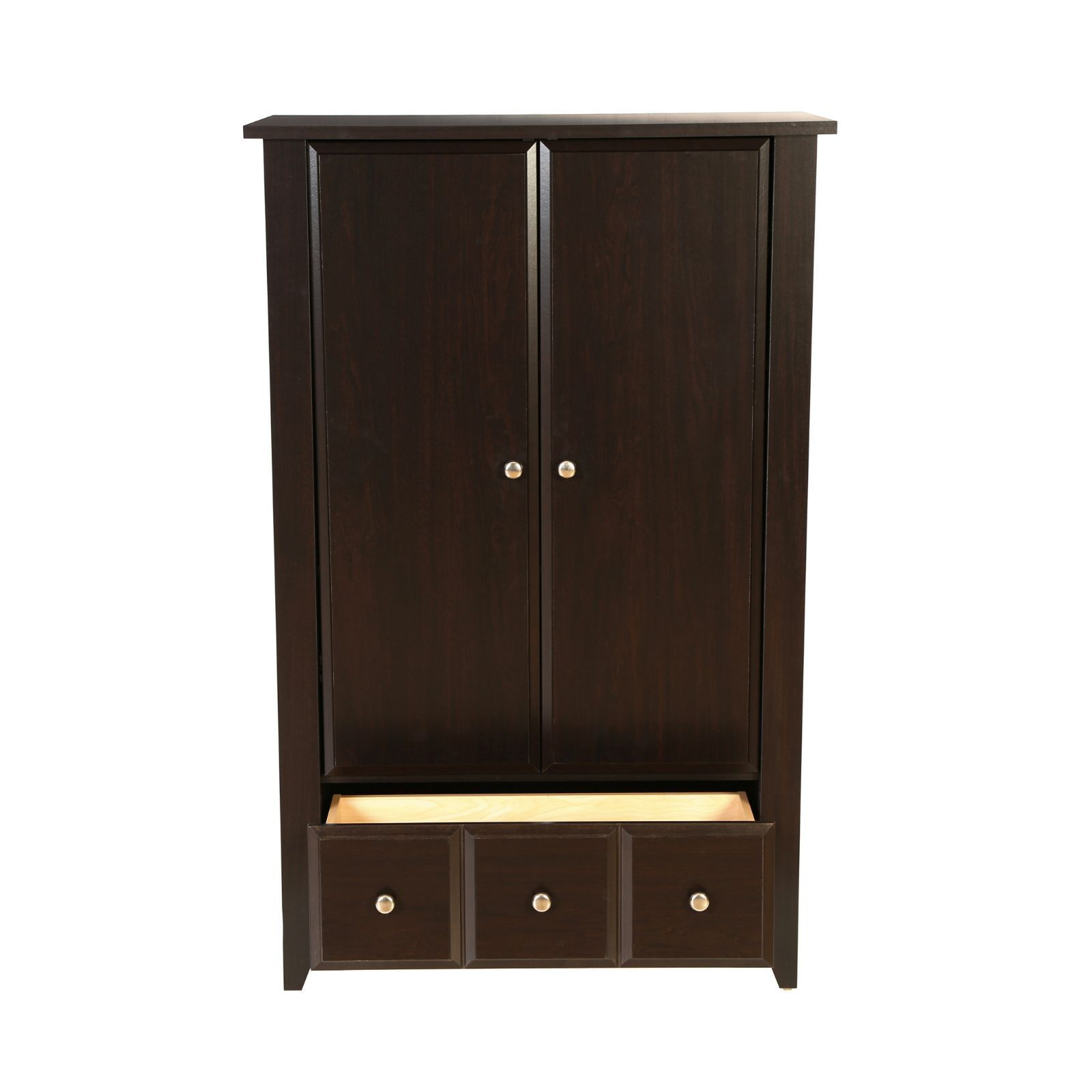 Marvelous photograph of Armoire Dark Brown Wooden Wardrobe Clothes Closet Bedroom Furniture  with #A1712A color and 1600x1600 pixels