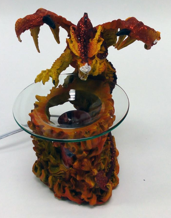 Black dragon with flames electric oil warmer no black pic incense burners - Dragon oil warmer ...