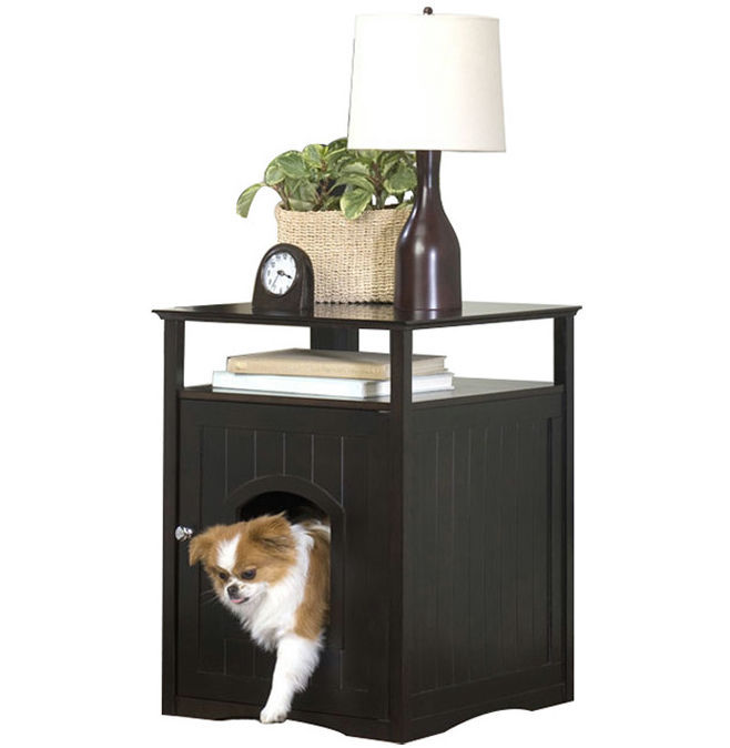 Pet Cat Crate House End Table Nightstand Litter Box Cover