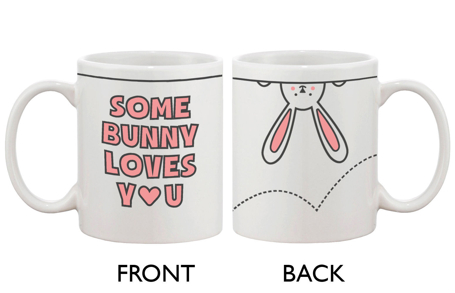 cute bunny ceramic coffee mug some bunny loves you mugs. Black Bedroom Furniture Sets. Home Design Ideas