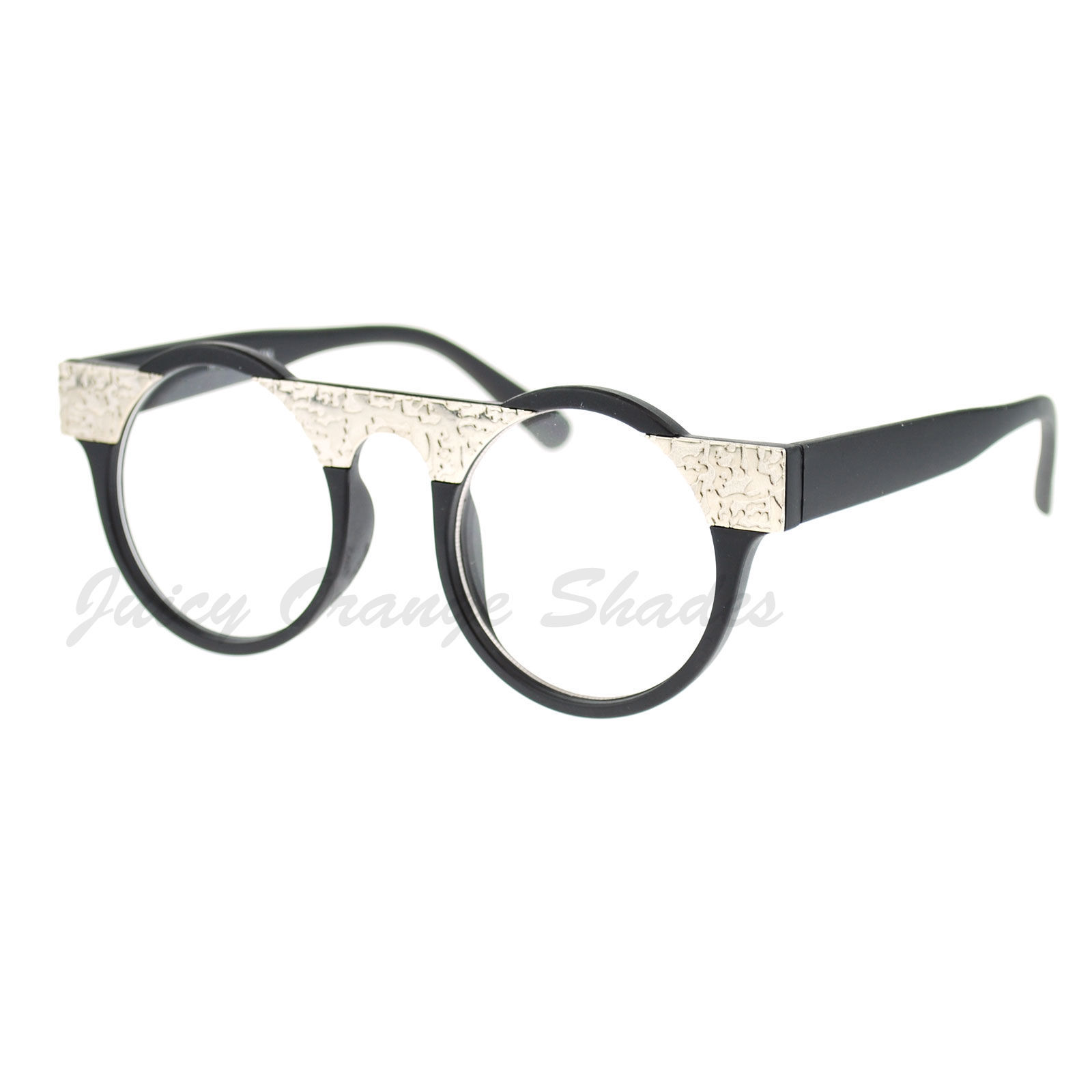 Round Frame Glasses Nz : Unique Clear Lens Glasses Round Circle Silver Plate Top ...