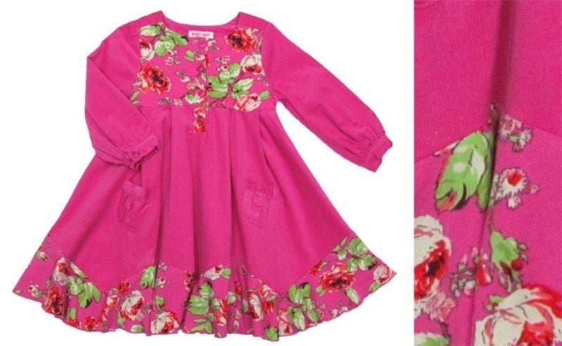 Image 2 of Posh Baby Nay Candy Rose Toddler Girl Hot Pink Cord Bridgett Dress, 3T - 3T