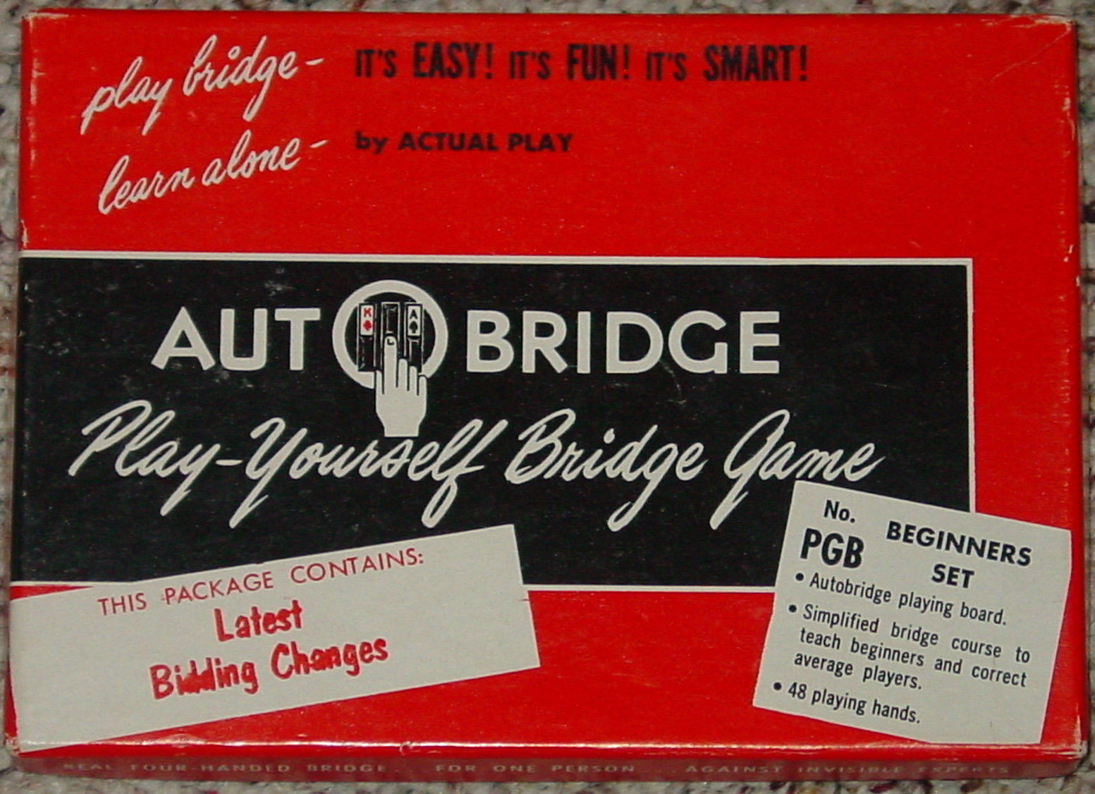 Auto Bridge Play Yourself Bridge Game Pgb Beginners Set