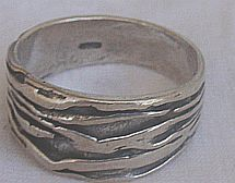 An silver ring