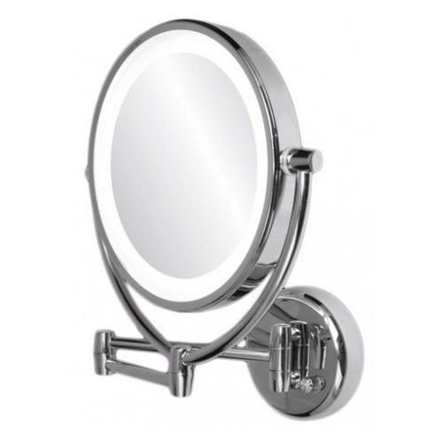 Lighted Makeup Mirror Round Wall Mount Magnifying LED Bathroom with ...