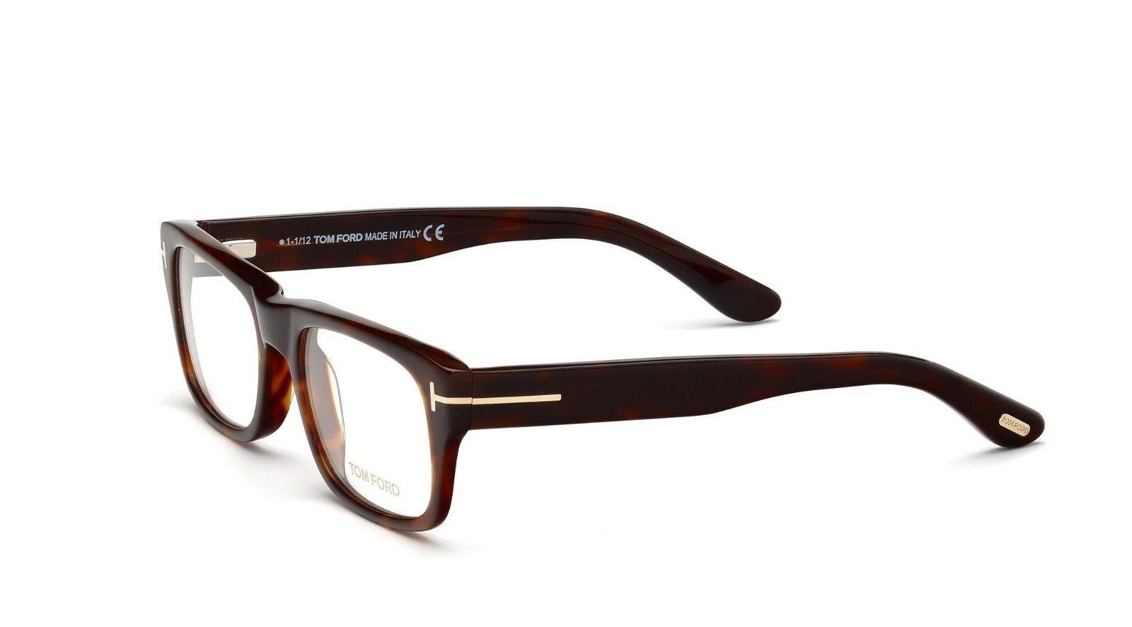 Custom Made Eyeglass Frames New York : Tom Ford FT 5253 052 Havana Acetate Full-frame Eyeglasses ...