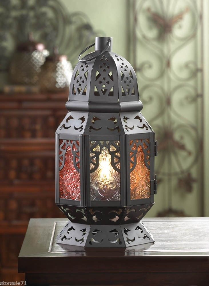 enchanted electrical rainbow candle lantern home decor multi color