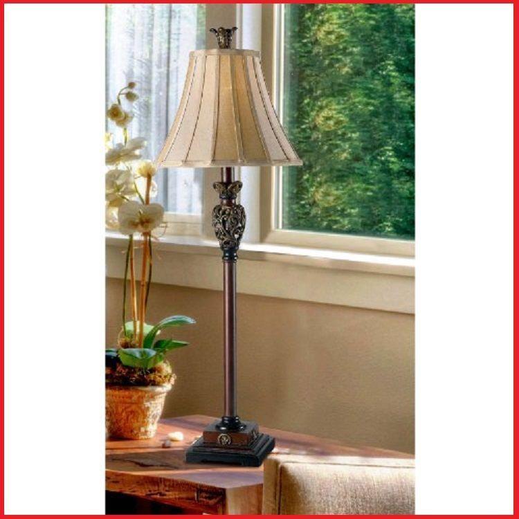 buffet table lamp golden end table lamps vintage lighting living room. Black Bedroom Furniture Sets. Home Design Ideas