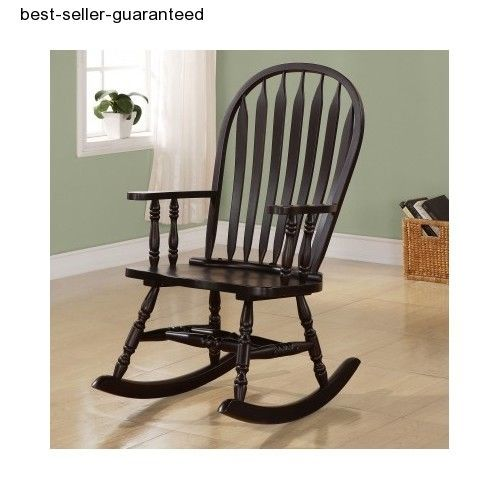 Rocking Chair Wooden Arm Chairs Outdoor Indoor Vintage Swing Rocker ...