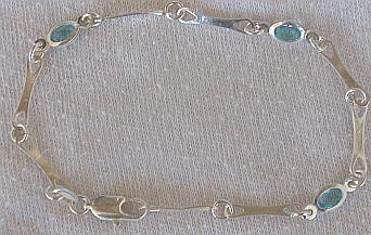 Light blue crystal bracelet
