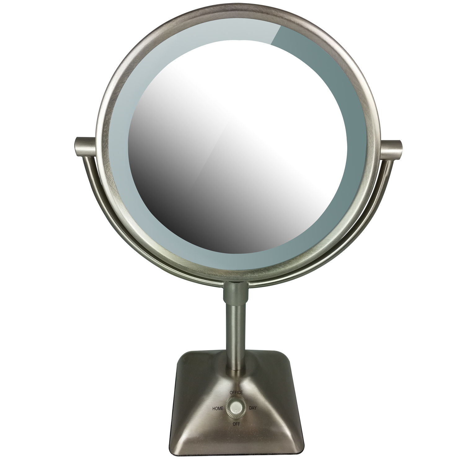 conair illuminations double sided lighted makeup mirror with 10x. Black Bedroom Furniture Sets. Home Design Ideas