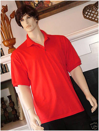 Image 0 of Pocket Polo Golf Shirt Hanes Stedman 0504, Adult Hot Sports Colors Cotton Blend