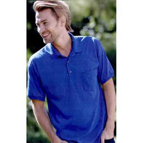 Image 0 of Pocket Polo Golf Shirt Gildan 8900, Adult, Hot Sports Colors, Cotton Blend - Bla