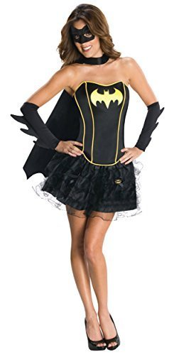 Image 0 of Rubies Womens Batgirl New Fancy Dress DC Comics Theme Party Halloween Costume, L
