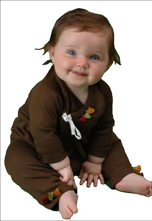 Image 1 of Soft So Cute Chocolate & Orange Sckoon Organic Cotton Kabuki Infant Wear - Kimon