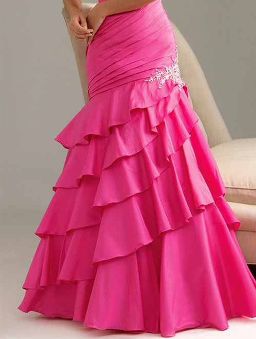 Image 3 of Sexy Strapless Fuchsia Pink Mermaid Prom Pageant Evening Gown Dress, Night Moves