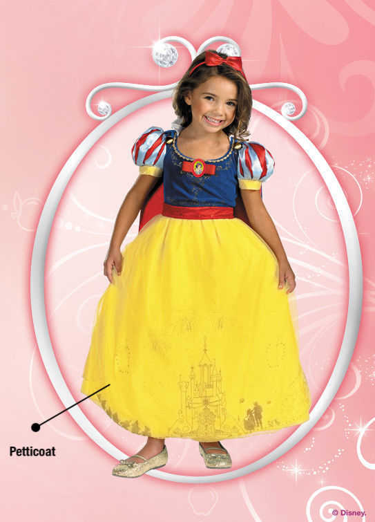 Image 2 of Disney Storybook Princess Snow White Prestige Dress Costume, Disguise, Polyester
