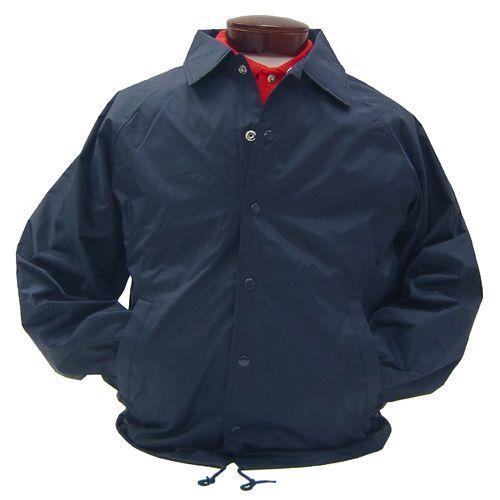 Image 3 of Auburn Kasha Lined Nylon Coach Jacket, Adult Solid Red,Blue,Black,Green L-4XL