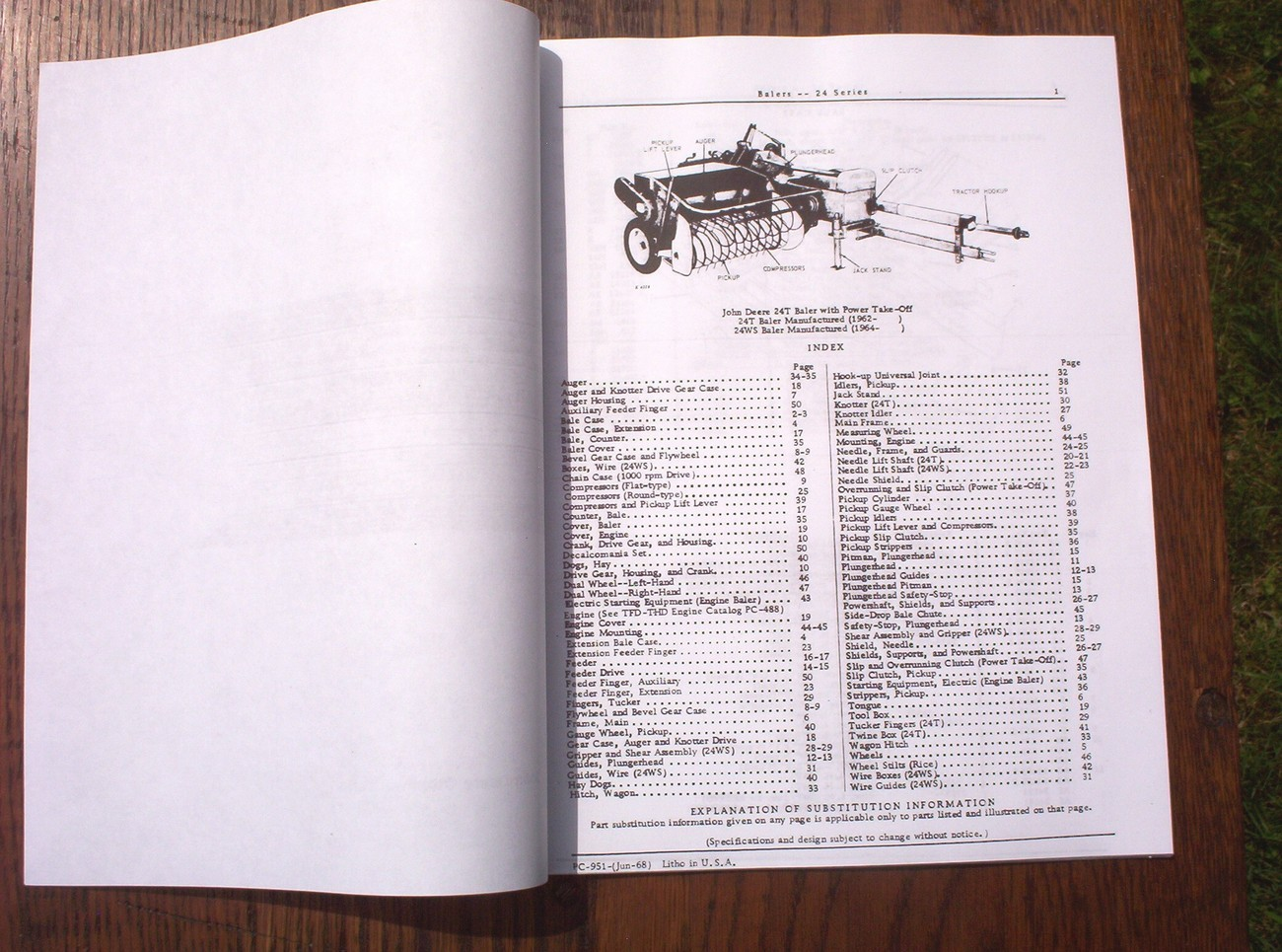 John Deere 24 Balers Baler Parts Catalog 24t 24w Manual
