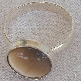 Brown tiger eye ring C