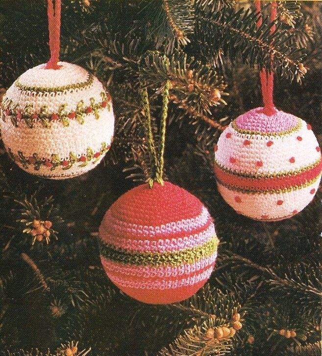 Free Crochet Patterns For Christmas Ball Covers : X994 Crochet PATTERN ONLY 3 Christmas Ornament Ball Cover ...