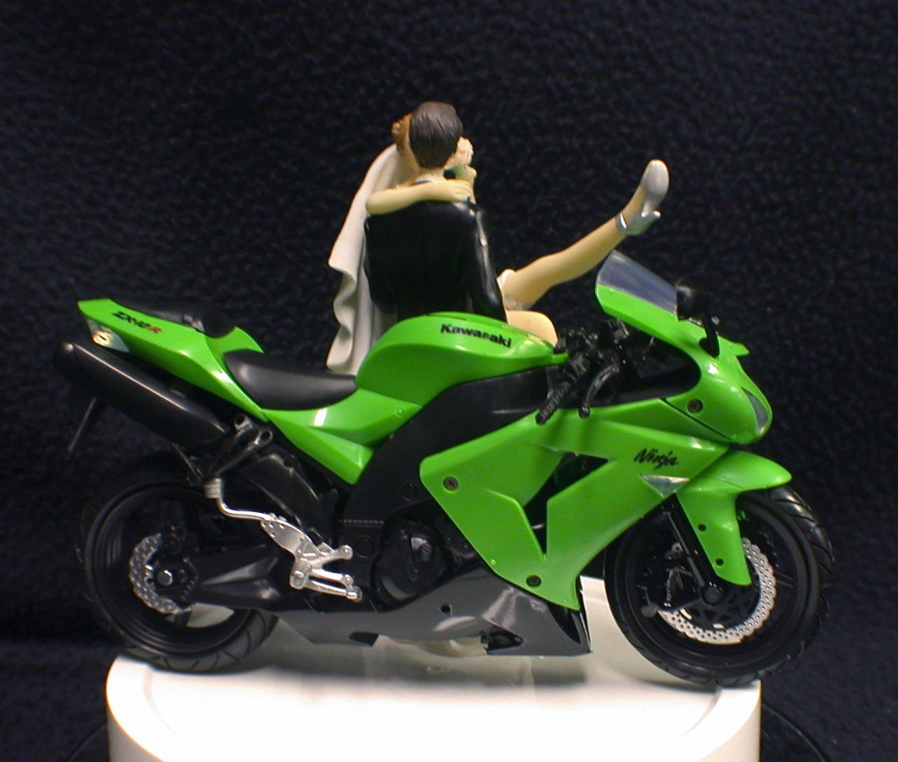 KAWASAKI Motorcycle wedding Cake topper Crotch Rocket ...