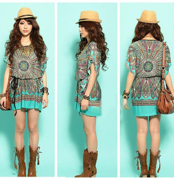 Boho Tunic Top Dress Boho Chic Tunic Top Summer