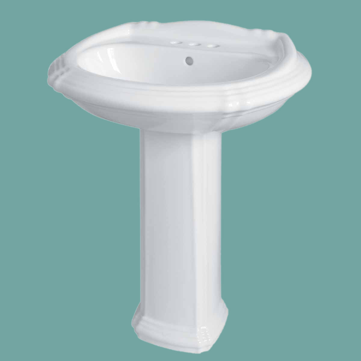 Victorian Bathroom Sink : Victorian Pedestal Bathroom Sink White Deluxe Centerset Renovators ...