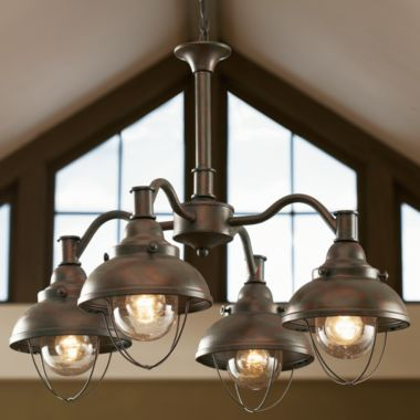 Ceiling Lodge Rustic Country Western Antique Bronze Lighting Light Fixture