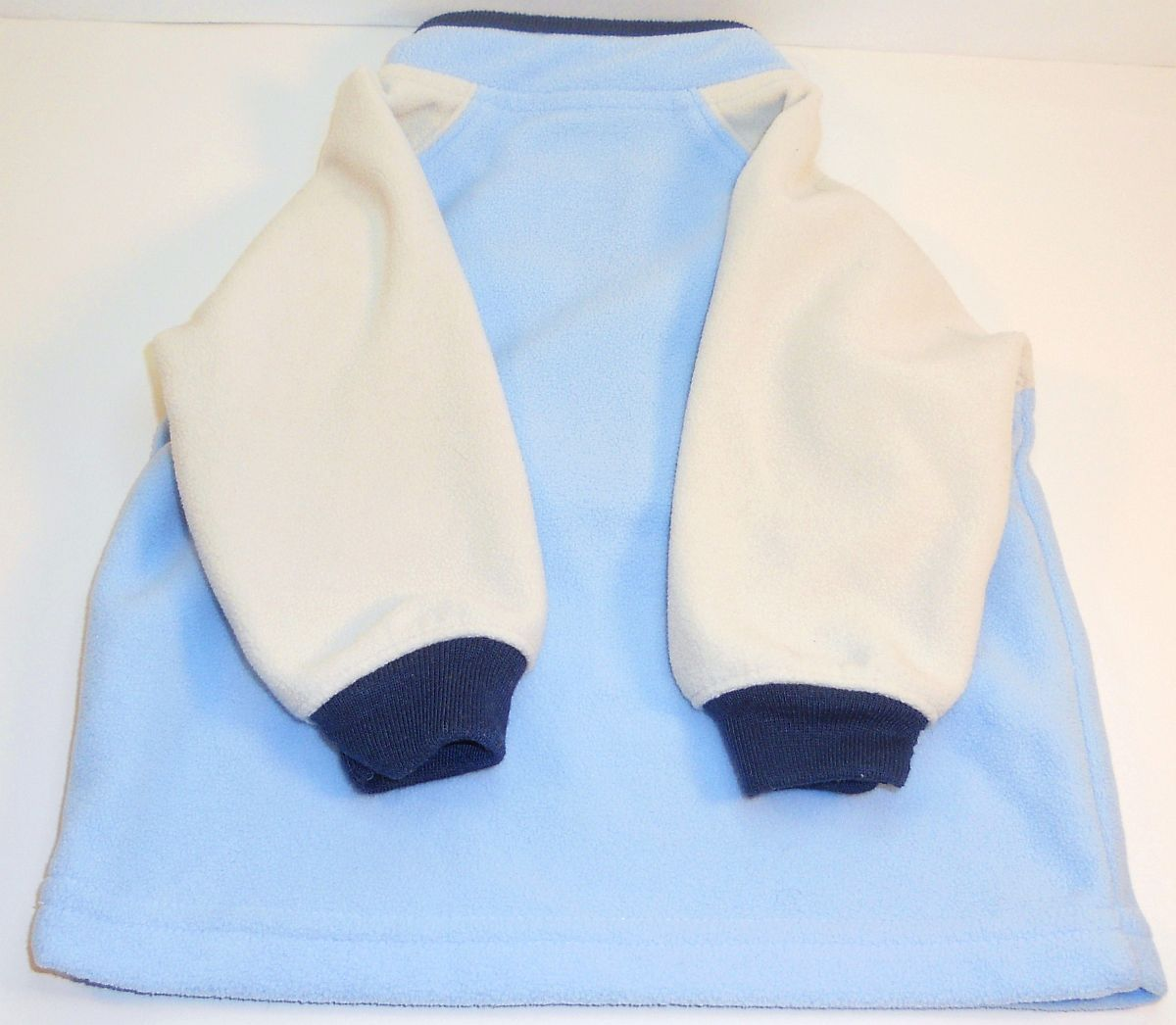 Image 1 of Carter's Fleece boys blue pullover sweater 0 to 3 months