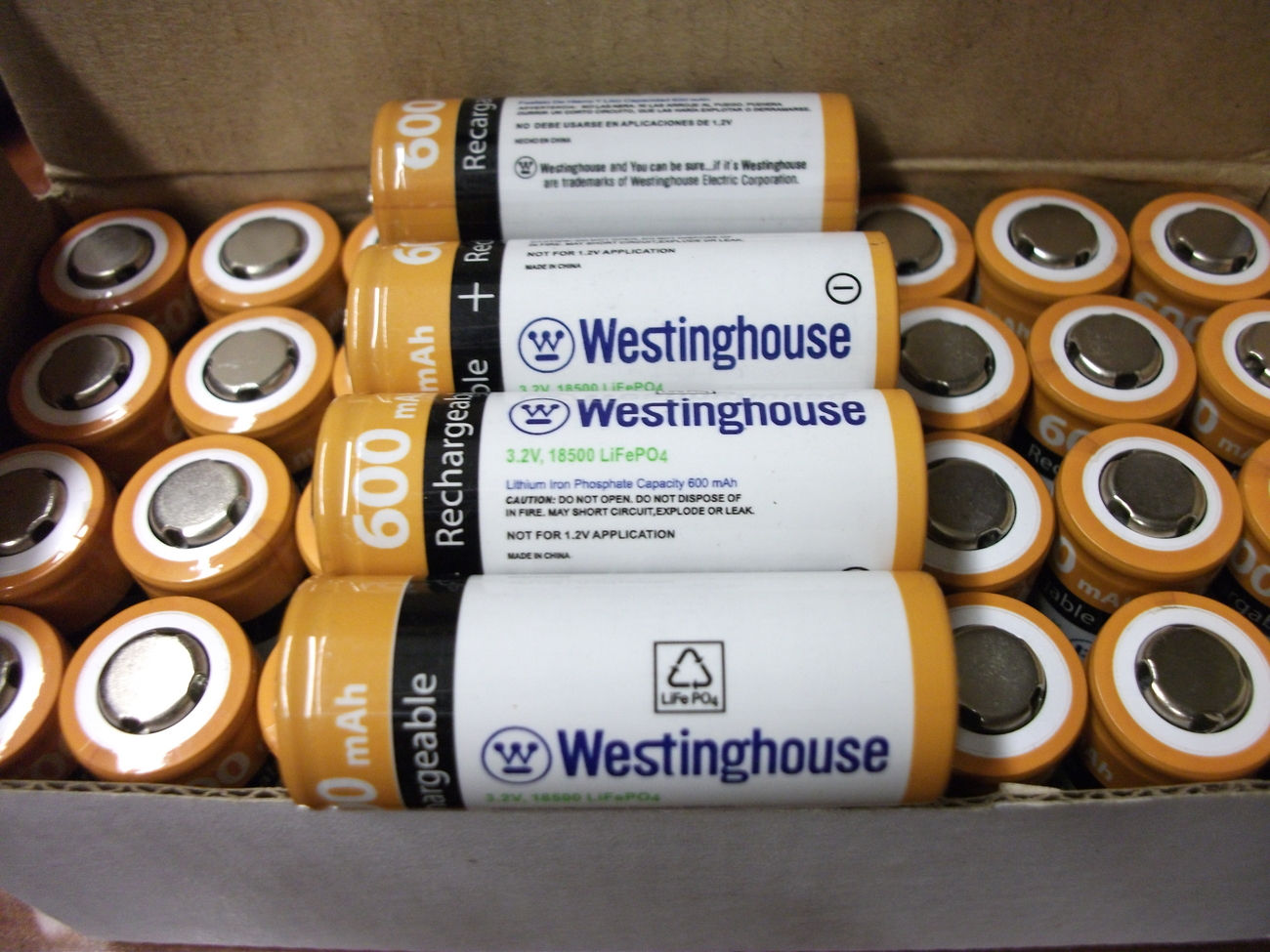 4 Westinghouse 600mah 3 2v 18500 Lifepo4 Lithium Rechargeable Battery Solar Other