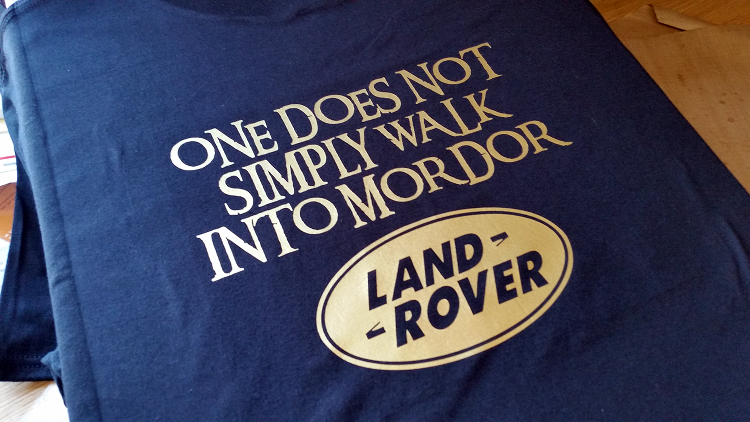 Men 39 S One Does Not Simply Walk Into Mordor Land Rover