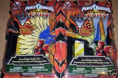 NEW Jungle Fury Power Rangers RED and BLUE Battler Sets RARE Generic