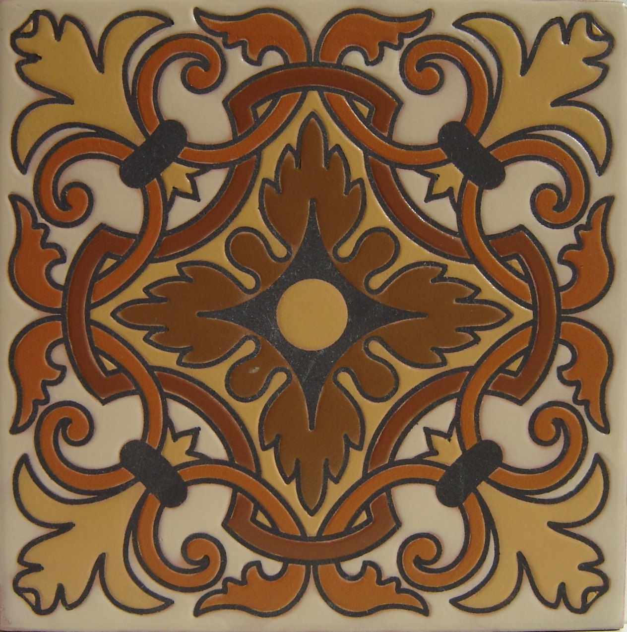 Elegance Ce 009 Decorative Mexican Talavera Ceramic Tile 6 X 6 Set Of 4 Tiles Tile Art