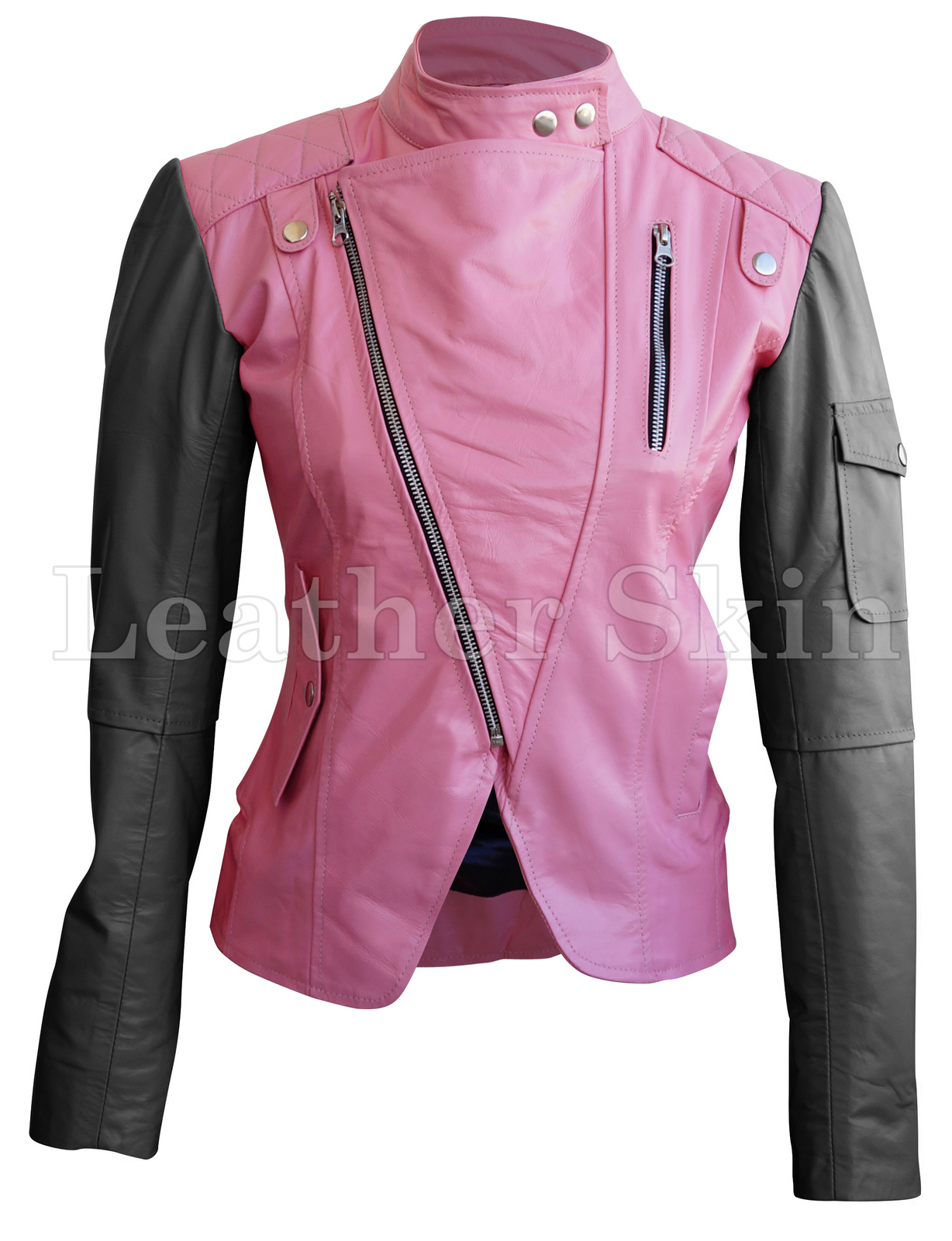 Leather_skin_women_pink_brando_genuine_leather_jacket_with_black