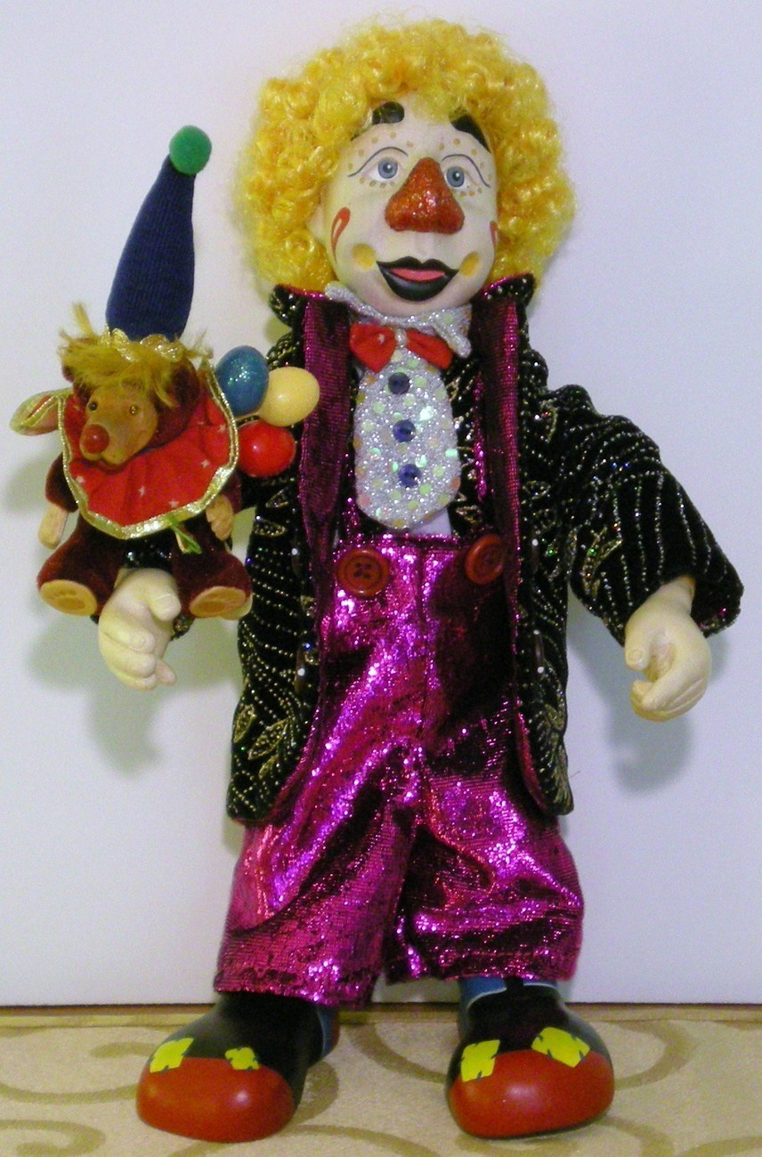Robert Raikes Doll Clown Tiramisu and Spumoni