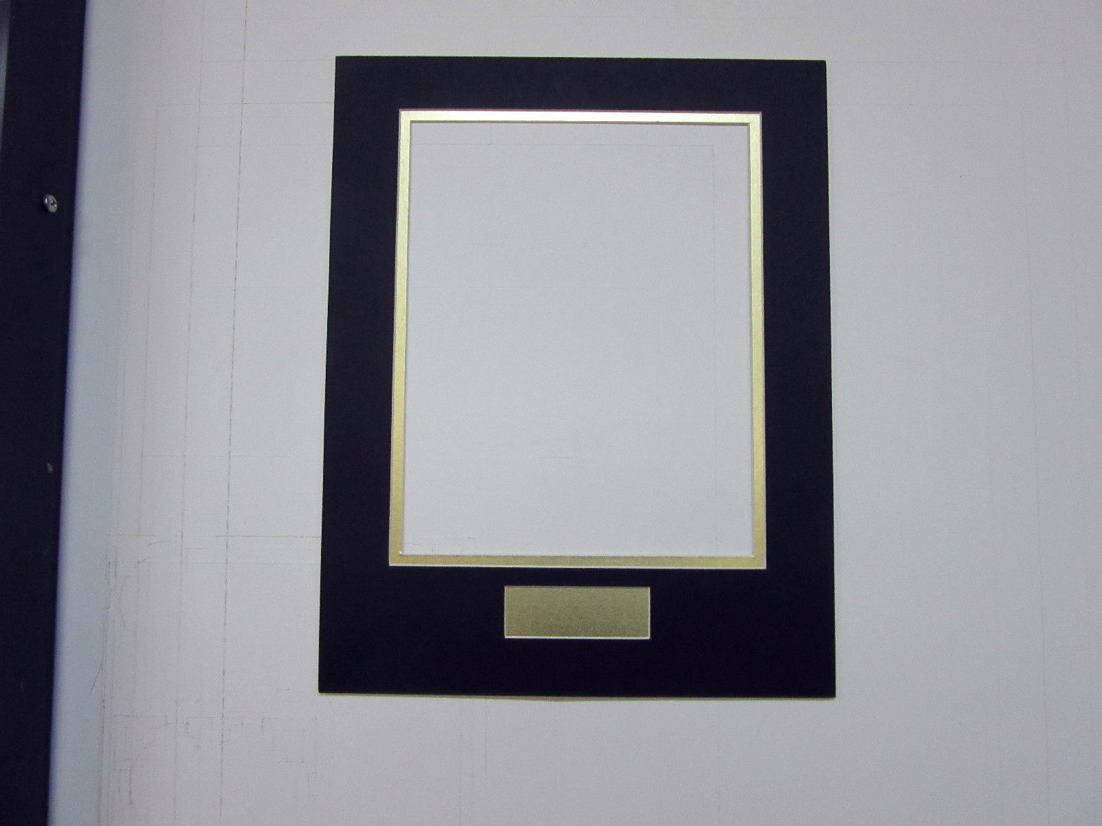 Picture Frame Double Mat 11x14 For 8x10 Photo Black With