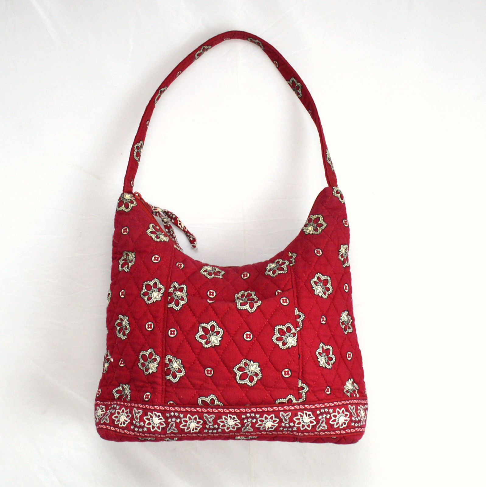 Retired Red Bandana Quilted Cotton Floral Vera Bradley