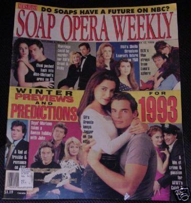 Soap Opera Weekly 1/93 Winter Preview *GH*Loving*SB*AW* Bonanza