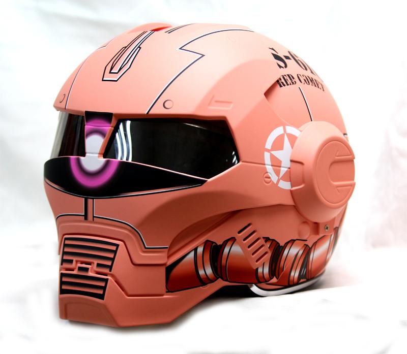 masei 610 gundam zaku matt red motorcycle helmet helmets