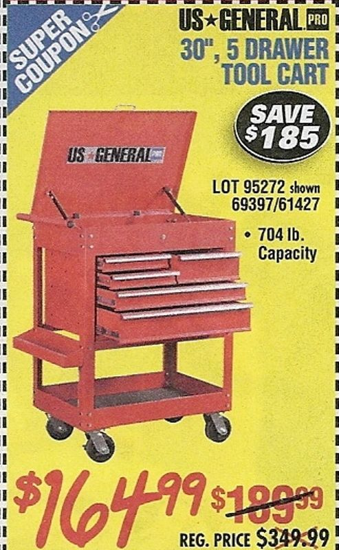 new used us general tool cart for sale 14 ads in us lowest prices. Black Bedroom Furniture Sets. Home Design Ideas
