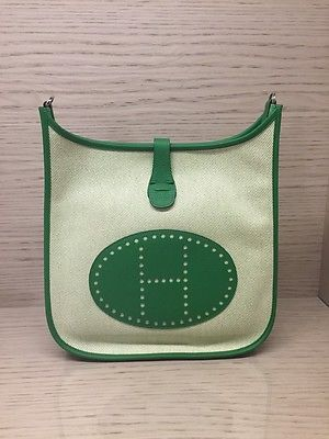 Herm¨¨s Ecru Twill H Canvas Taurillon and 50 similar items