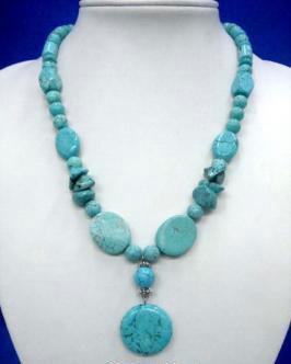 Turquoise  Stone N Pieces Pendant Necklace # 4 Bonanza