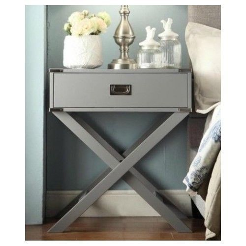end side accent campaign grey wood bedroom furniture nightstands