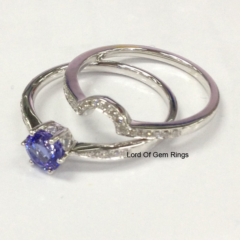 2 wedding ring sets 7mm tanzanite engagement