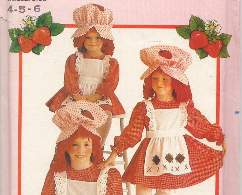 Strawberry Shortcake Costume Pattern 4-5-6 Butterick 6139