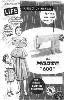 Vintage Morse 600 Sewing Machine Owner Manual Book M