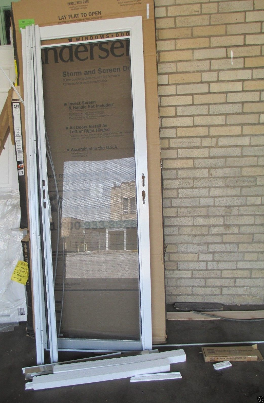 1589 #7C6B4F  2000 Series 20 White Full View Glass Storm Door LOT 7148 Doors picture/photo Full View Entry Doors 43691042
