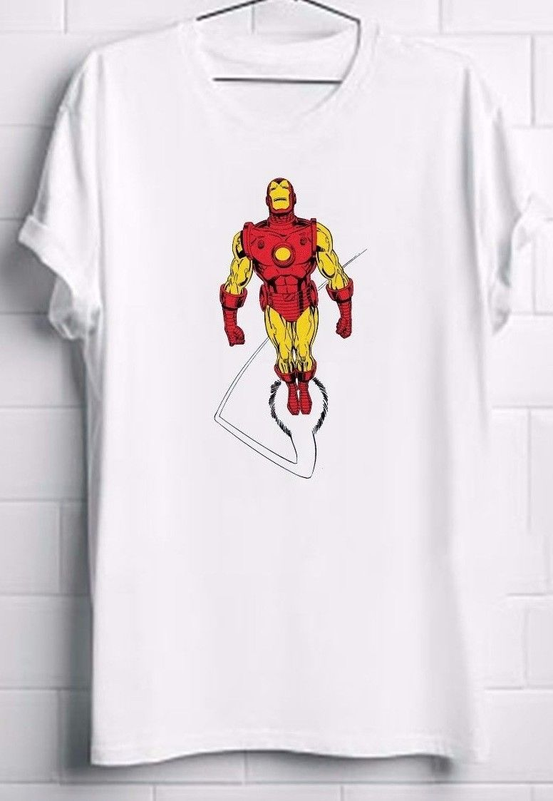 Iron man t shirt iron man marvel comics x men shirt for Iron man shirt for men